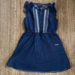 Girls DKNY denim dress